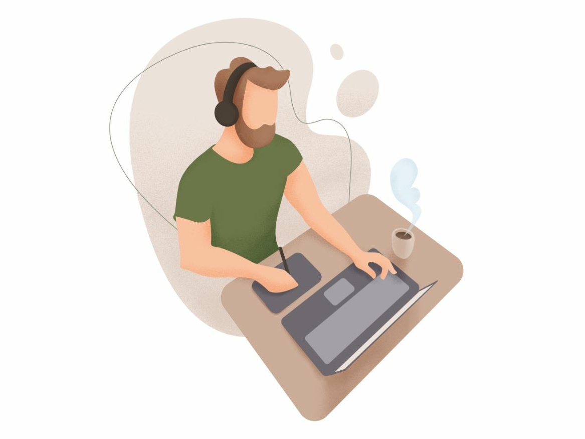 Freelancer design vector illustration