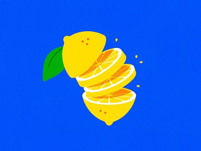 Lemonade lemonade colorful blue yellow slices illustration lemon