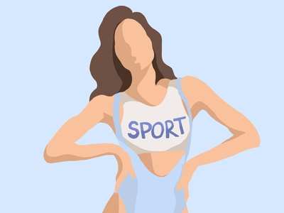 Sport Girl vector illustration