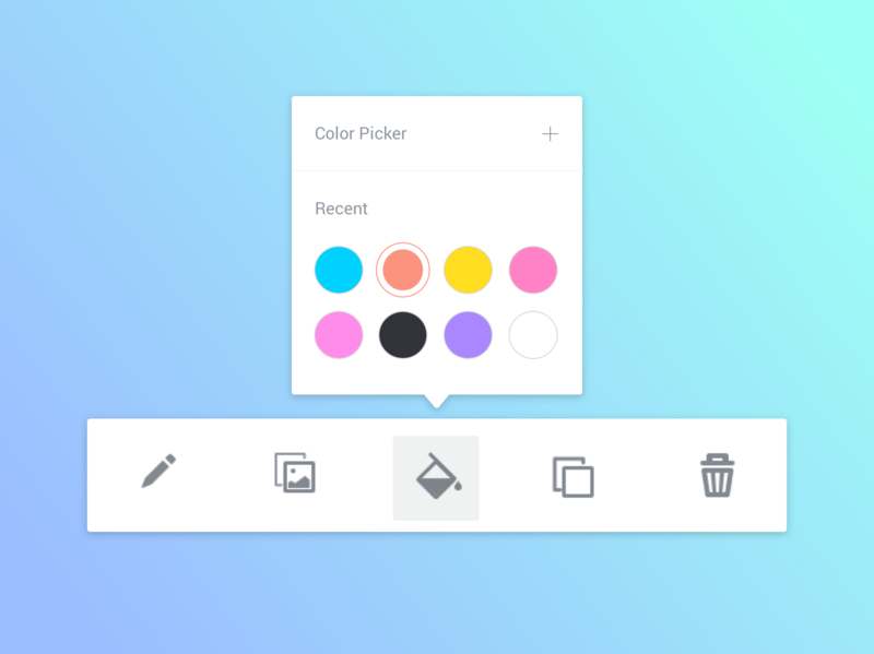 Background Color Picker Tool dailyui minimal colour palettes design tools swatches tool toolbar software ui ux ui design interface designer saas app color wheel color picker