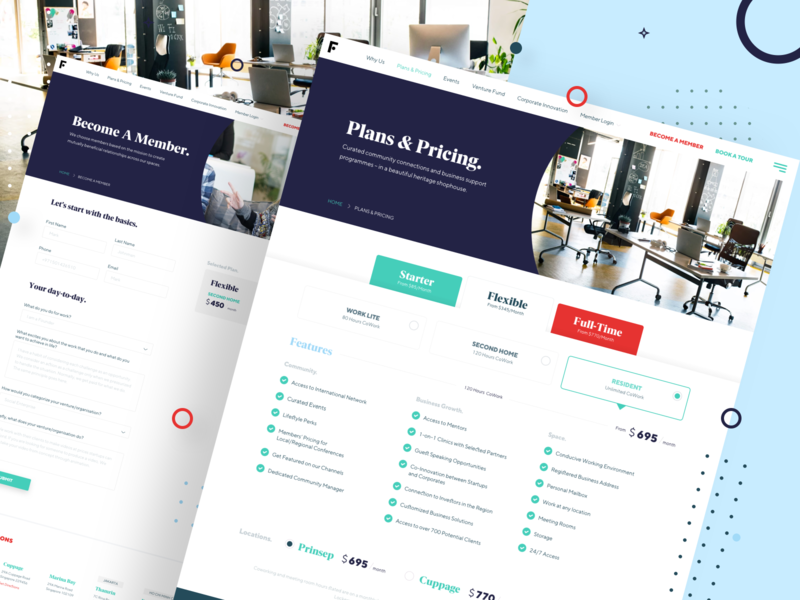 Complex Pricing Design for Shared WorkSpace Company creative agency website minimal ux uidesign 2020 pricing table pricetable global dubai singapore workspace shared trend ui design pricing