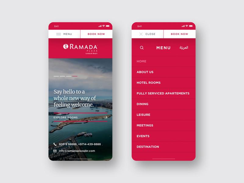 Responsive Banner and Menu uidesign uxdesign 2017 android iphone menu banner mobile first mobile design responsive web design ui client work dubai design