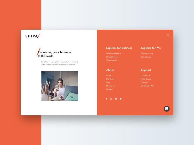 Full Screen Navigation Design animation menu navigation fullscreen white orange 2018 ux web design uidesign dubai client work ui design