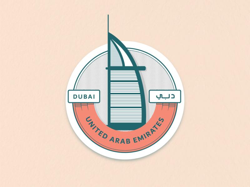 Hometown — Dubai, United Arab Emirates city logo sticker hometown uae dubai weeklyui designexercise designchallenge design weeklywarmup dribbbleweeklywarmup dribbble