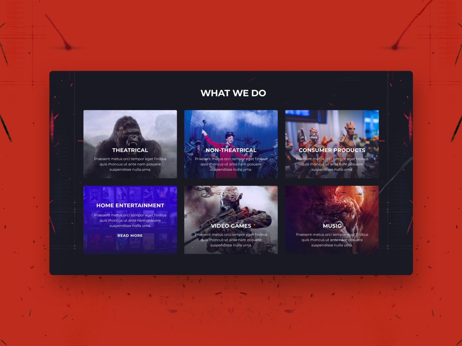 Services Dark Ui By Mansoor Fahmeed On Dribbble