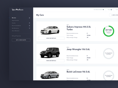 YourMechanic - Dashboard
