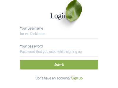 Simpler - Login/Signup typography form input widget register login app