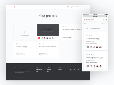 Udacity Blitz - Projects View