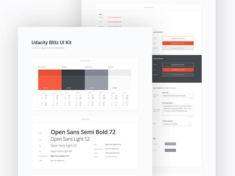 UB - UI Kit guideline colors typography kit interface ui ui kit