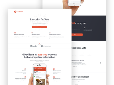 Pawprint - Vet Landing Page