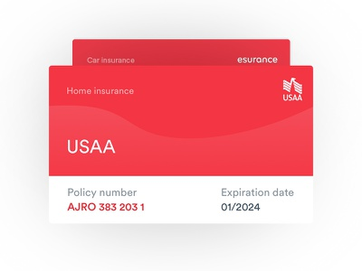 Jerry - Insurance Card box cards interface ux ui card insurance