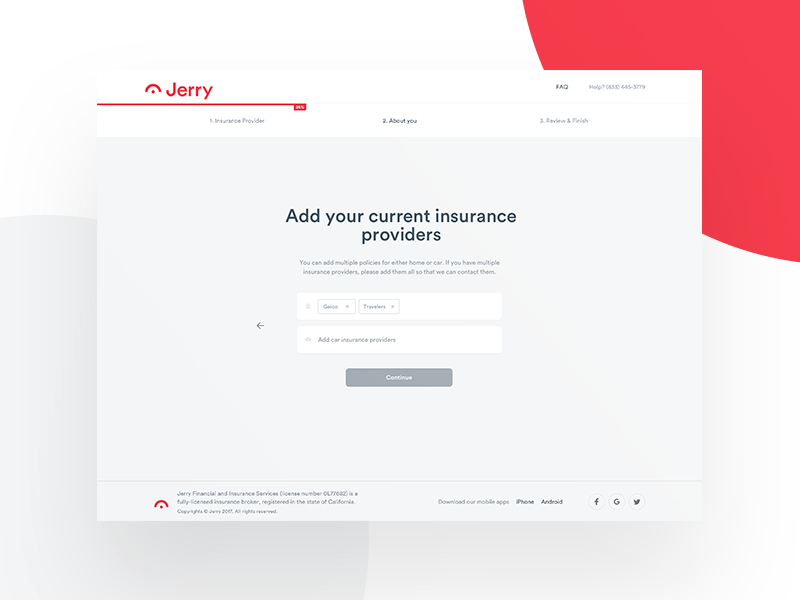Jerry - Funnel funnel form app ui ux user interface user experience