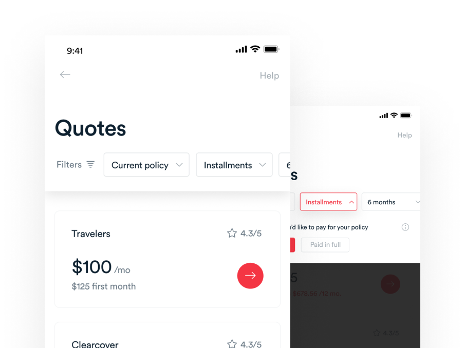 Jerry App - Quotes Filtering tags filters price list quotes user interface material react ios application design responsive flat android mobile clean interface app ux ui