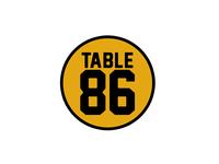 Table 86 Pint Glass Logo
