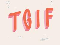 TGIF lettering
