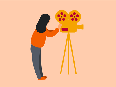 Film Maker ipad pro procreate drawing illustration movie movie camera camera film