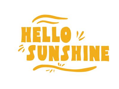 Hello Sunshine illustration typography happy bright lettering summer hello sunshine