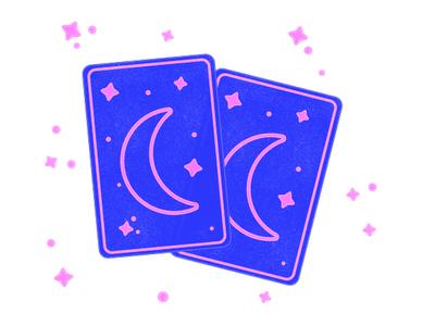 Tarot Cards pink blue illustrator illustration letterpress ink tarot cards tarot card tarot