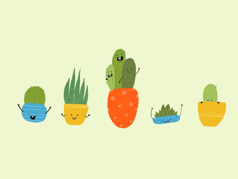 Succulents procreate ipad illustration ipad pro drawing cute rebound succulents