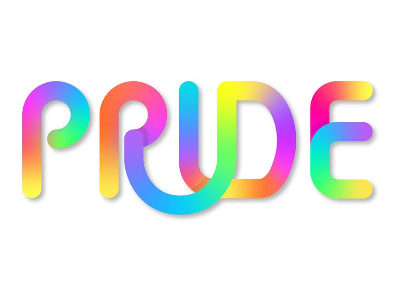 Pride graphic design gradient illustrator lettering pride lettering pride month pride