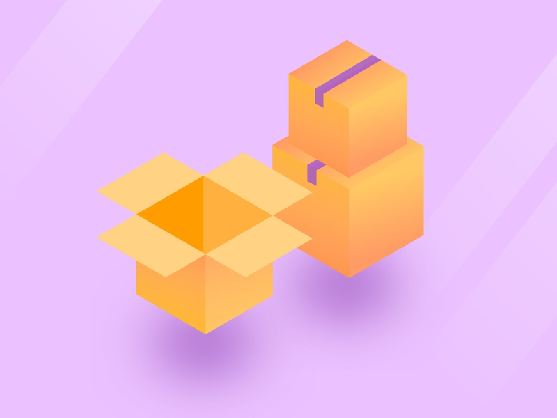 Moving Boxes boxes moving boxes illustration graphic design isometric illustration isometric design isometric