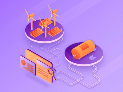 Update-SEO-Electricity and Natural Gas Isometric Illustration