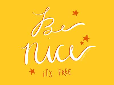 Be Nice lettering ipad pro procreate be nice
