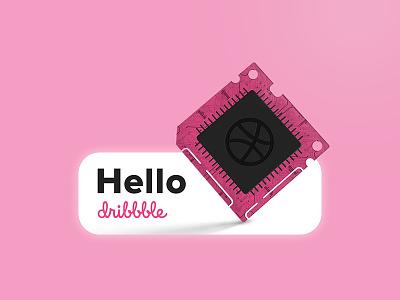 Hello Dribbble! digital photoshop debut chip