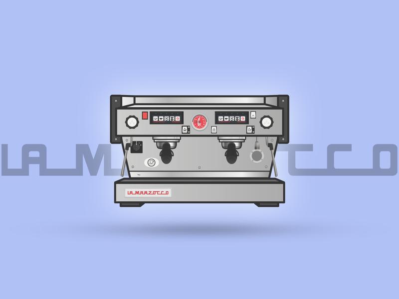 Lamarzocco Linea AV espresso machines illustration coffee