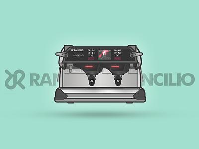 Rancilio Classe11 series espresso illustration machines coffee
