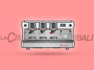 La Cimbali M100i series espresso illustration machines coffee