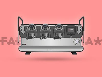 Faema E71 series espresso illustration machines coffee