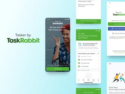 Tasker by TaskRabbit app figma sketch adobexd webdesign inspiration dailyui ios ux. mobile ui tasker taskrabbit