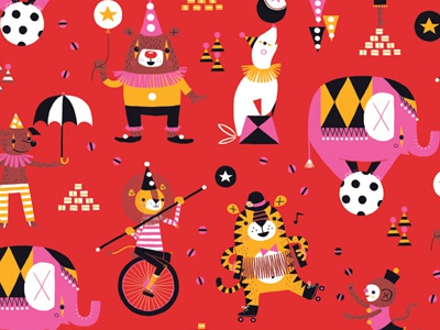 Circus Hero Pattern illustration pattern circus