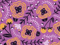 Purple Folksy Floral