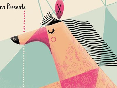 Pieta Brown gig poster horse illustration