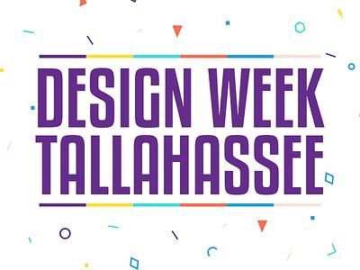 Design Week Tallahassee pattern branding design week florida tallahassee shapes bright colorful type