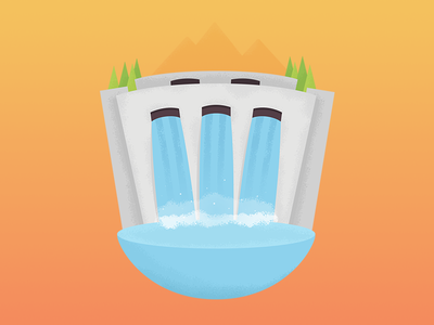 Renewable Energy water hydroplant energy renewable 7daystocreate 7 days to create illustration