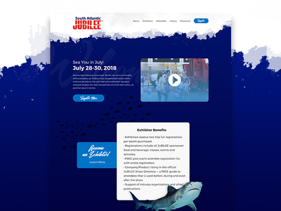 Sea You in July! sea ocean ui website web design