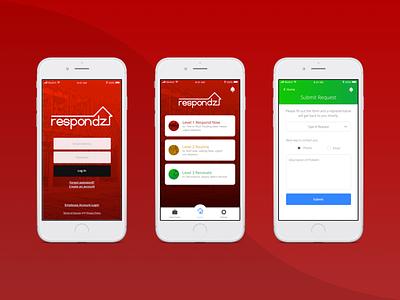 Respondz App maintenance home application ui app design