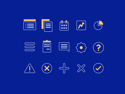 Data Icons illustration data dashboard files document app vector lines flat iconography icons crm