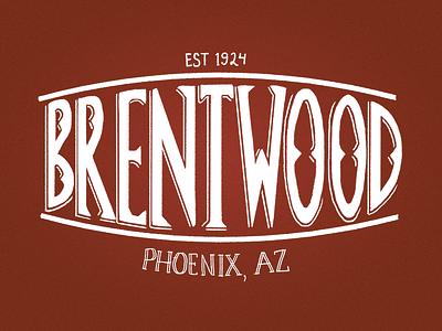 Brentwood Letters design lettering phoenix brentwood hand lettered hand lettering