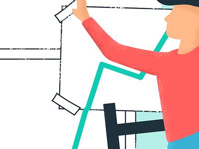 New Beginnings design texture flat vector illustration