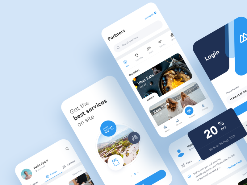 MEX - Android Flutter Design system flutter e-commerce discount delivery food ui-kit design system user experience ux marketplace feed design app android