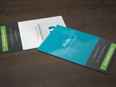 Acpa business card design