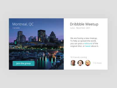 Dribbble Meetup Montreal