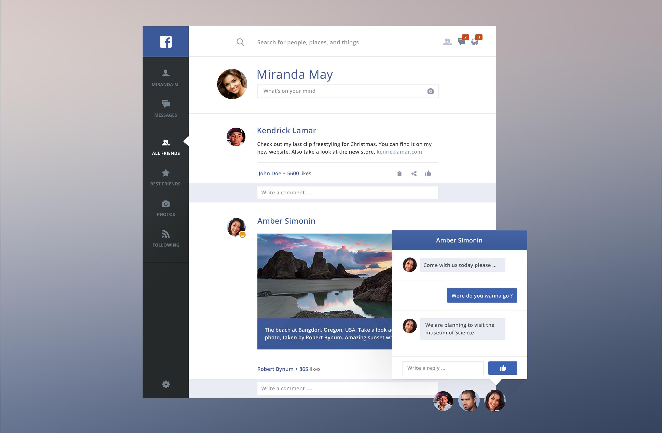 Facebook redesign hd