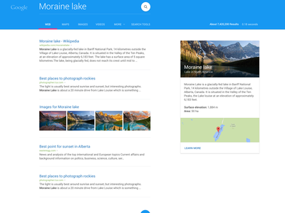 Google - Material exploration material design google search sunset list cards tabs blue flat web android