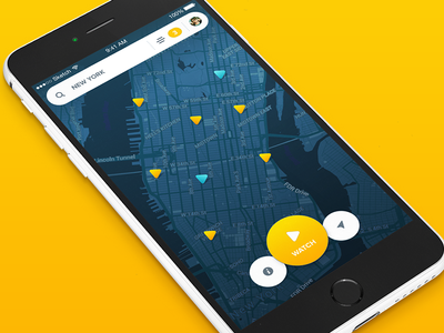 Teasing white search 6c yellow triangle material map teasing app