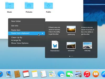 OSX - El capitan clipboard dock file blue dark menu clipboard capitan el yosemite mac osx